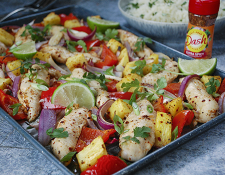 Image of One Sheet Spicy Pineapple Chicken
