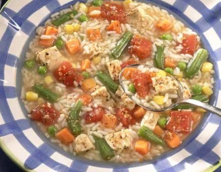 Image of Chicken Rice Vegetable Soup