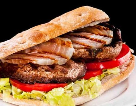 Image of Grilled Mushroom Sandwiches