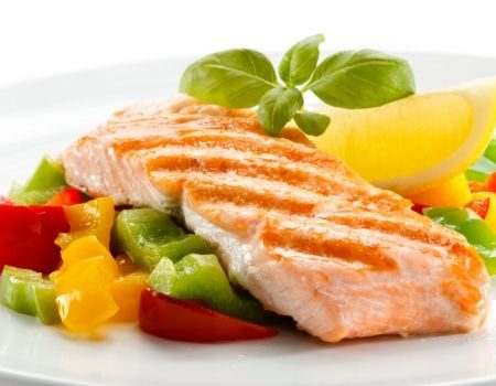 Image of Grilled Salmon & Vegetable Salad