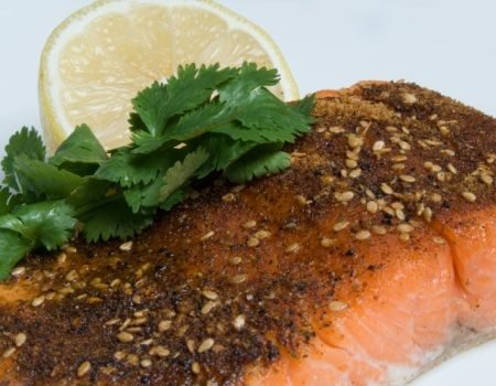 Image of Grilled Salmon With Citrus Dressing