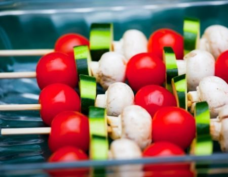 Image of Grilled Vegetable Kabobs With Cherry Tomatoes