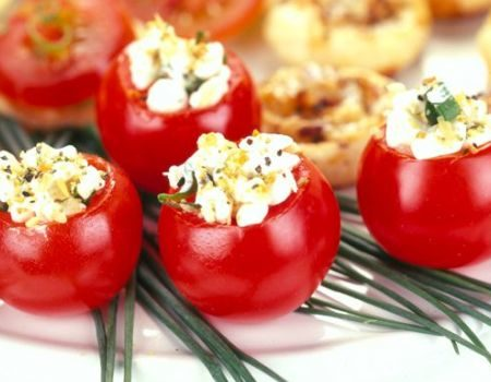 Image of Herbed Stuffed Cherry Tomatoes