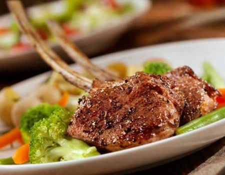 Image of Lamb Chops With Garden Vegetables