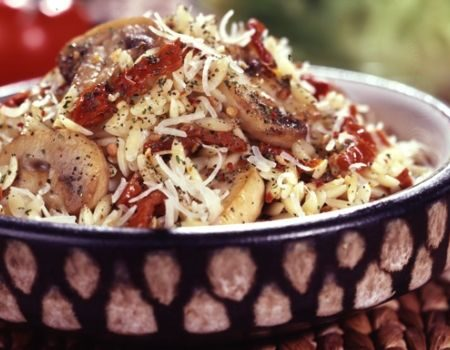 Image of Orzo With Mushrooms & Sun-Dried Tomatoes