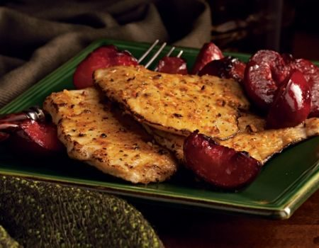 Image of Pork Cutlet With Plums