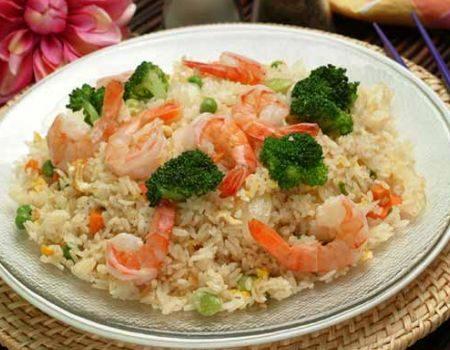 Image of Shrimp, Broccoli and Rice